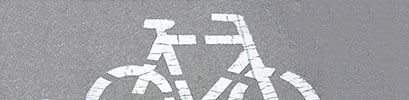 Bike Sign on Concrete