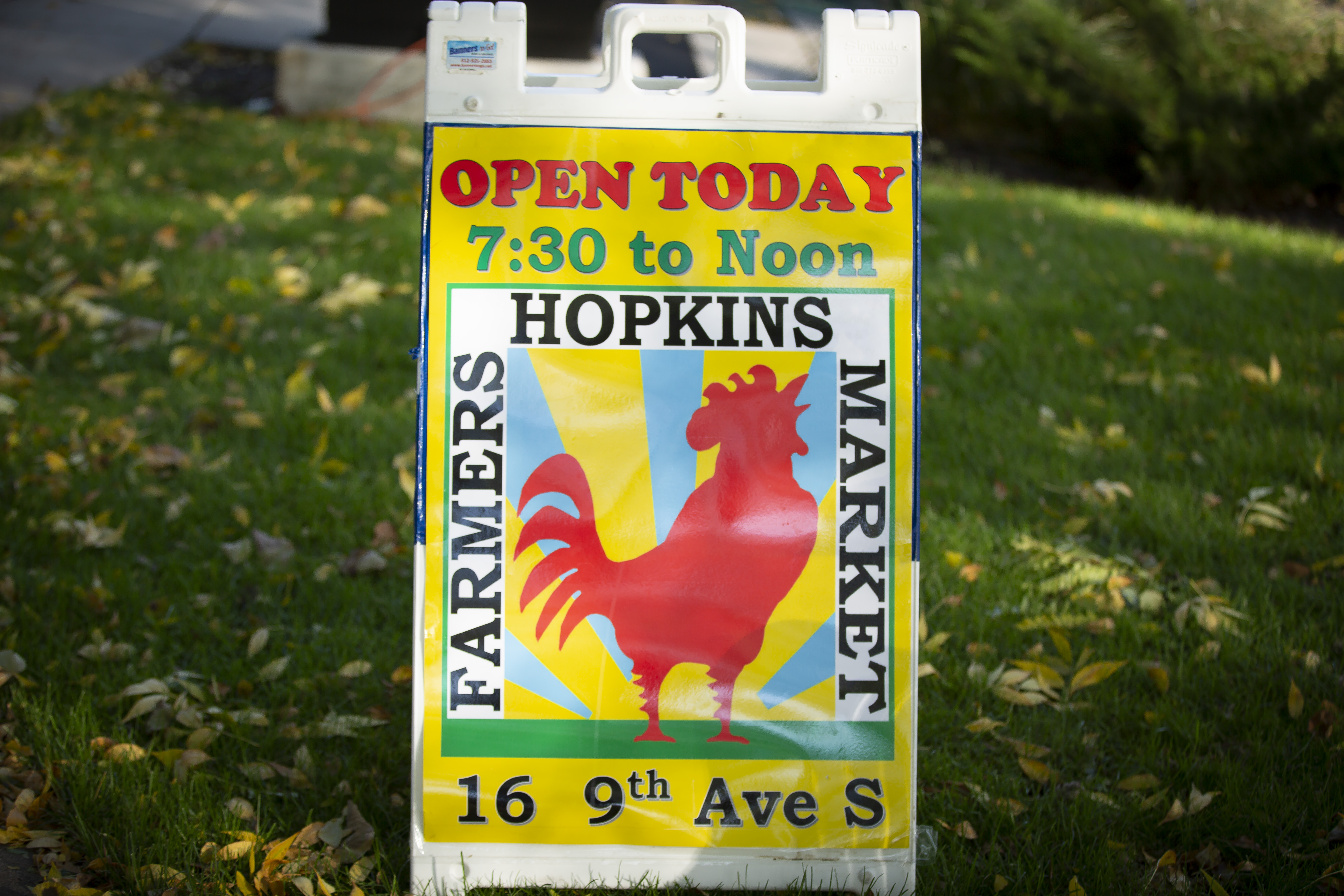 Hopkins Farmers Market sign