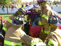 Firemen with Car During Open House