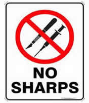 No Sharps Sign
